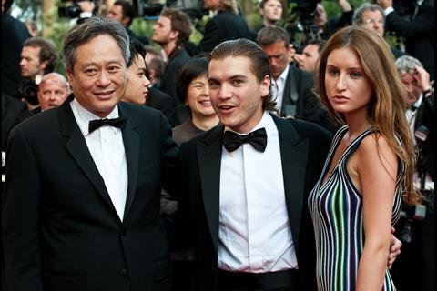 """(L-R) Director Ang Lee, actor Emile Hirsch and actress Brianna Domont arrives at the premiere of """"Inglorious Basterds"""" at the 62nd Cannes Film Festival in Cannes."""